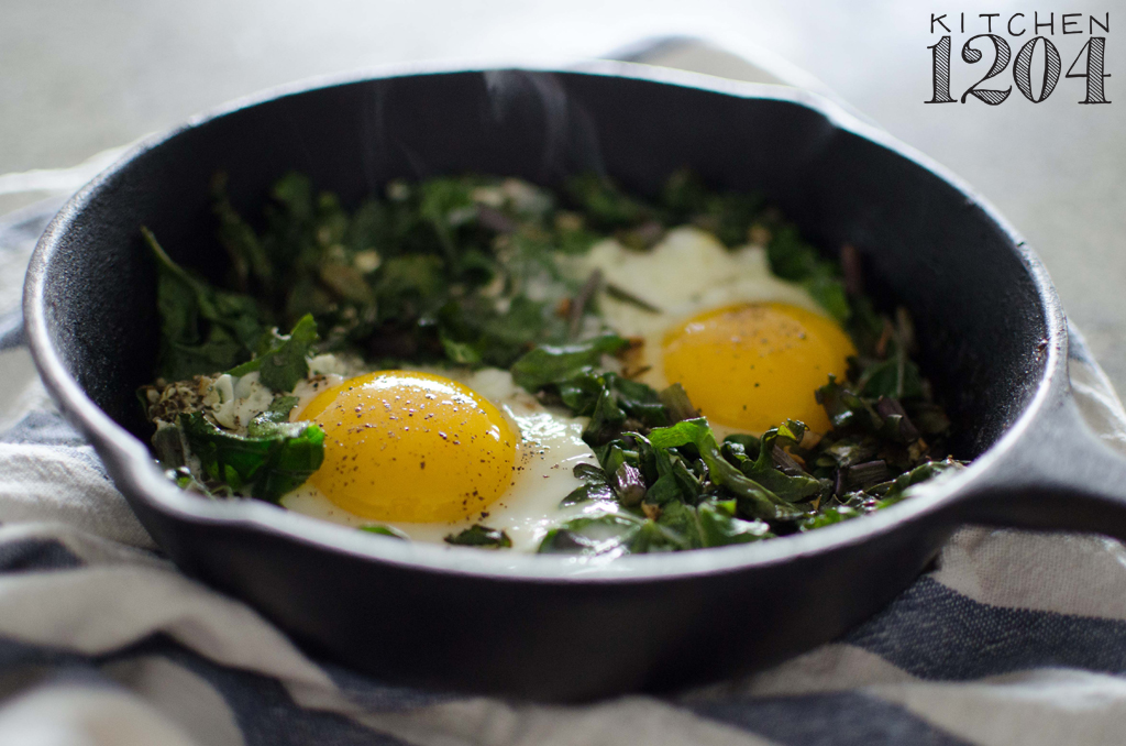 Garlicky Kale + Eggs | Kitchen 1204