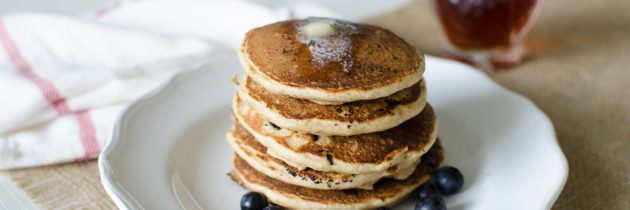 CSA Week 10: Whole Grain Blueberry + Banana Pancakes