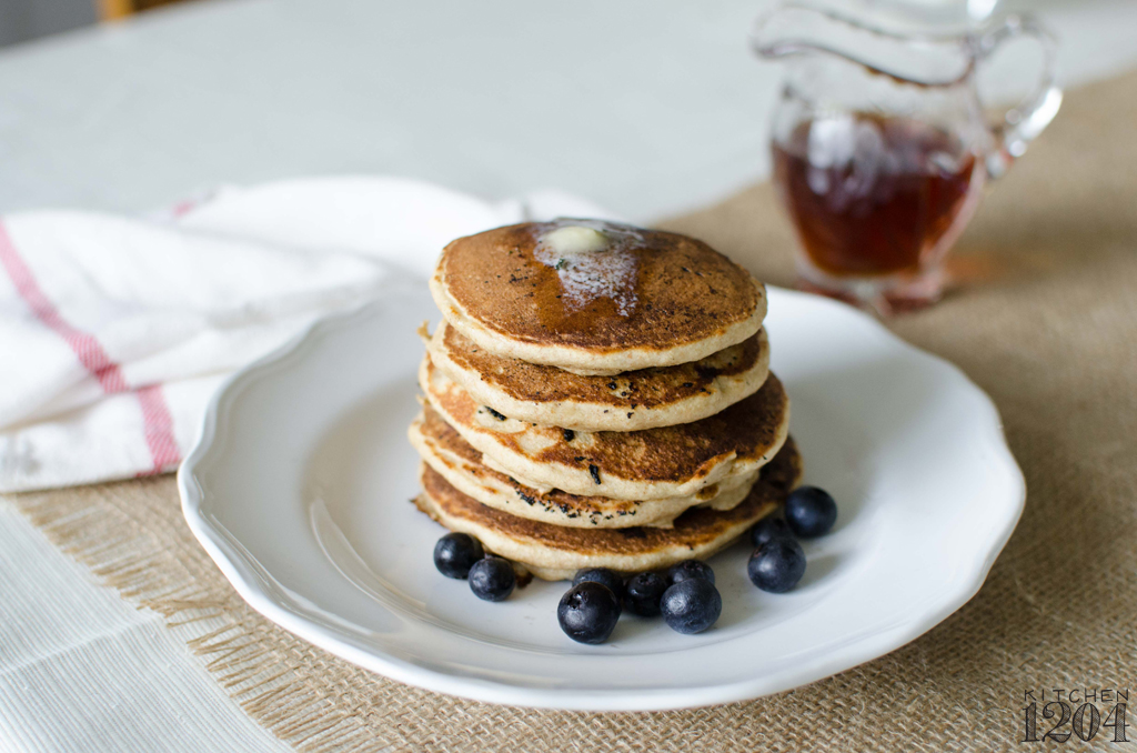 Whole Grain Blueberry + Banana Pancakes | Kitchen 1204