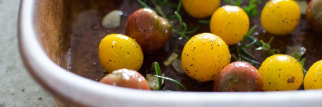 Herb + Garlic Roasted Cherry Tomatoes