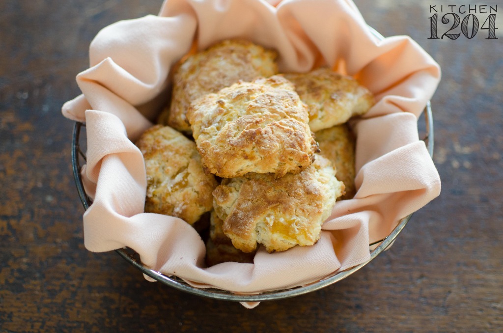 Pickled Peach + Buttermilk Biscuits | Preserving Place | Kitchen 1204
