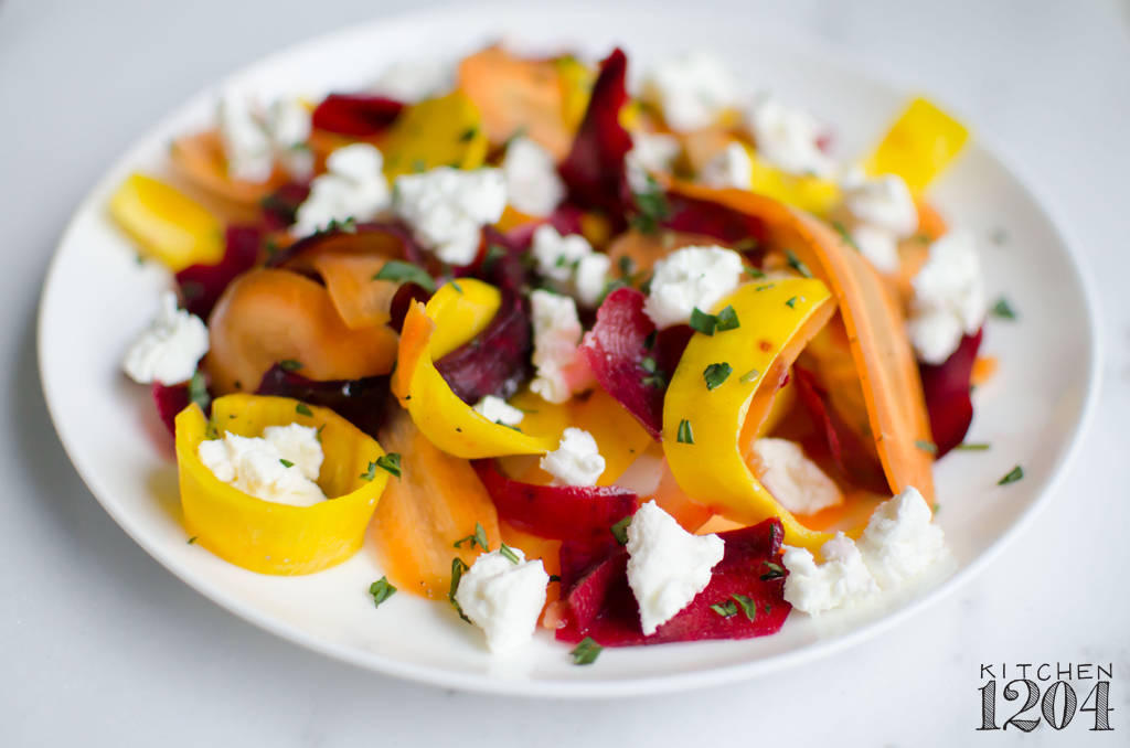 Shaved Beet + Carrot Salad with Goat Cheese | Kitchen 1204