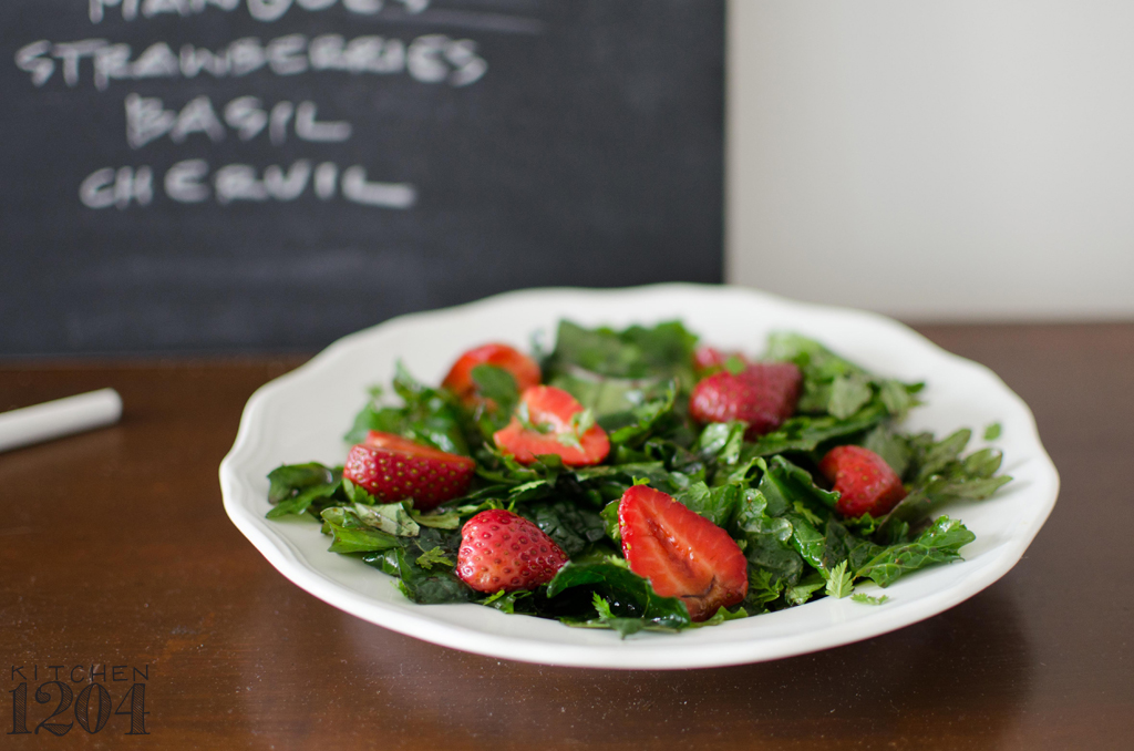 Three Kale Salad with Balsamic Strawberries | Local Roots | Kitchen 1204