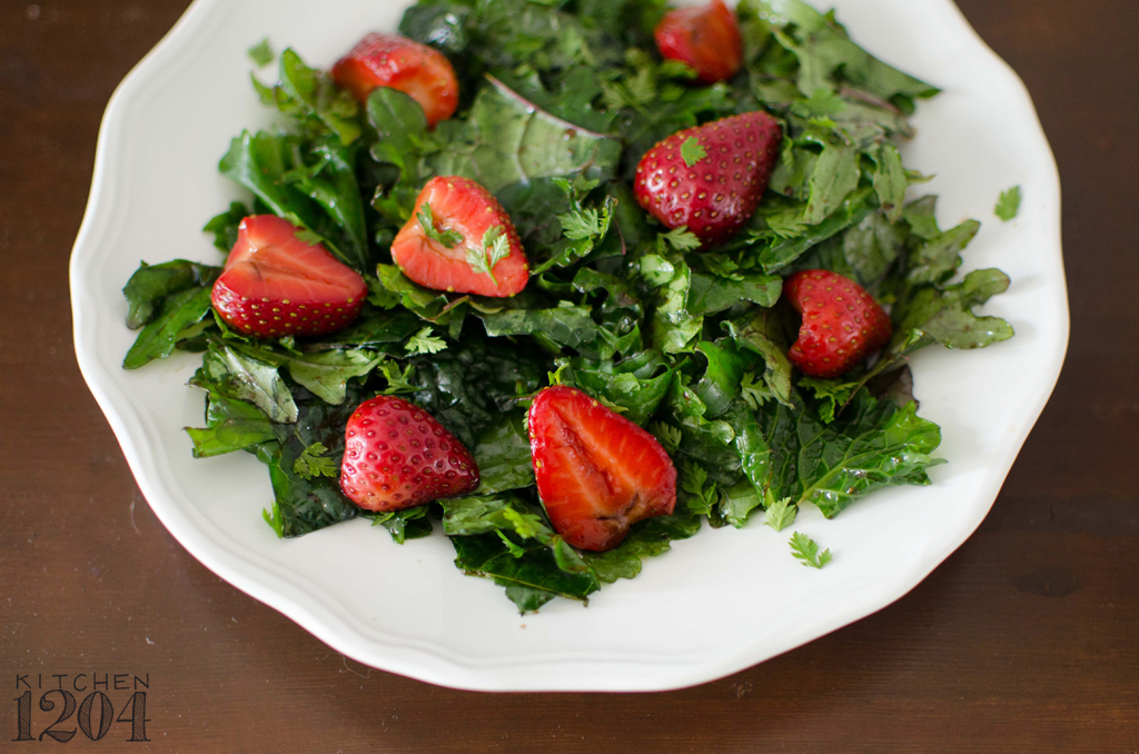 Three Kale Salad with Balsamic Strawberries 2.1