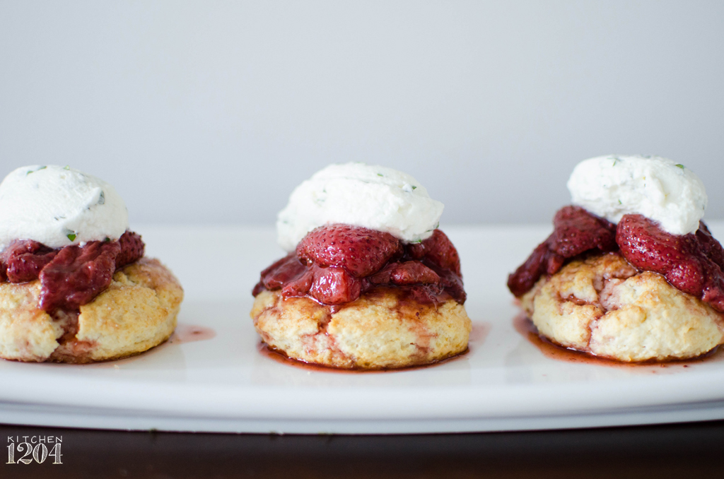 Roasted Strawberry Shortcakes with Basil + Mascarpone Cream | Kitchen ...