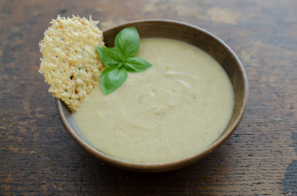 Roasted White Heirloom Tomato Soup