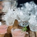 Pink Grapefruit + Champagne Punch
